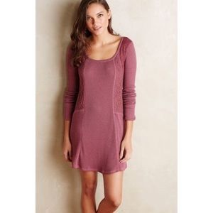 ANTHROPOLOGIE Mauve Waffle Tunic/Dress Size S